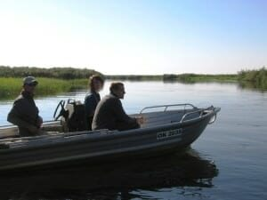 Kory and Tim in boat