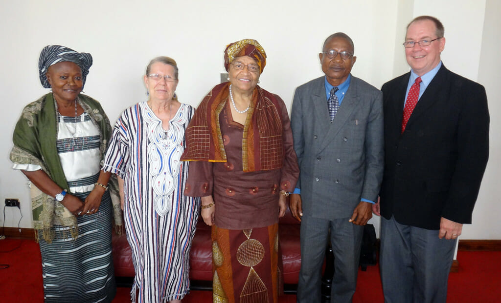 President of Liberia says Goodbye to Ma Wata